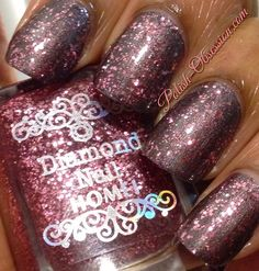 Pink #Homei glitter layered over Hot Looks All That Jazz