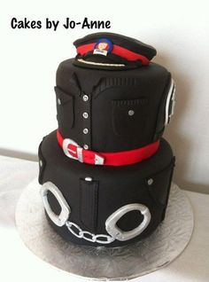Police Officer Retires  Cake by Cakes by Jo-Anne