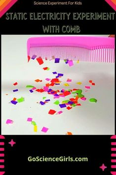 Simple Science experiment that you can try at home. This static comb activity will teach your kids all the basics of Static Electricity how they help the comb to attract paper pieces. Electricity Experiments, Easy Science Experiments, Static Electricity, Steam Activities, Science Activities, Stem Steam, Homeschool, Teaching, Paper