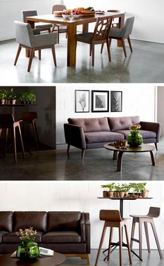 Modern furniture for styling the whole living + dining area