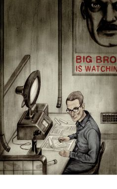 Illustration from Nineteen Eighty Four by George Orwell.