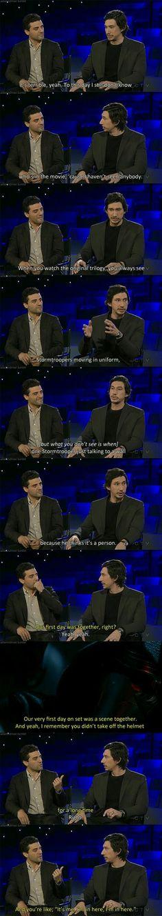 Star Wars: The Force Awakens | Oscar Isaac & Adam Driver Interview