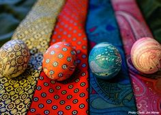 Spring is a fabulous time of the year to try new things. It's also time for spring cleaning, whether you like it or not, including cleaning out your closet.  It's time to transform those silk ties collecting dust into charming eggs with unique patterns. I'll show you how to combine a lot of my favorite things–repurposing, hollow eggs, making home decor, and happy surprises into some amazing art!  Repurposing Ties For this project, gather up any unused, gaudy, and dated silk ties that you…