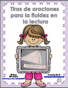 Fluency Practice: Sentence strips in Spanish - check more on my website Dual Language Classroom, Bilingual Classroom, Bilingual Education, Spanish Classroom, Vocabulary Activities, Language Activities, Kindergarten Activities, Reading Fluency, Reading Skills