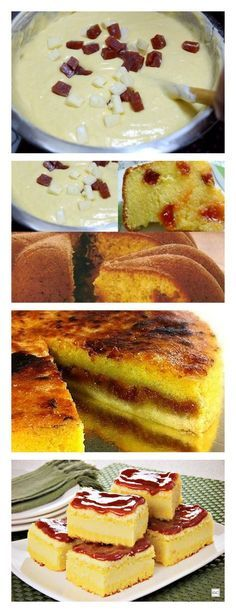 Bolo de Fubá Com Goiabada No Liquidificador! Um bolo simplesmente maravilhoso. Experimente!! salve este pin #bolo#torta#doce#sobremesa#aniversario#pudim#mousse#pave#Cheesecake#chocolate#receita#confeitaria#casamento#liquidificador