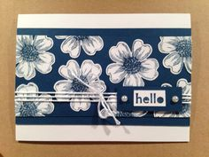 Stampin Up Flower Shop--on white. punched, mounted on solid background?