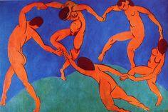 Matisse gaat over kleuren en dynamiek.