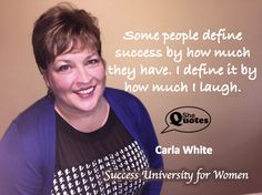 Carla White define success