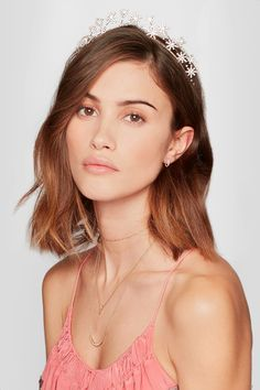 Jennifer Behr - Starlight gold-plated Swarovski crystal headband