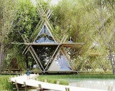 Architektur-Konzept: Ein flexibles Bambus-Hotel im Wald