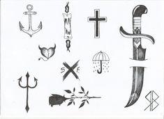 Diversas artes para tattoo.