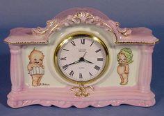Florence Baker Kewpie Decorated China Clock NR