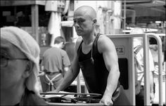 Tsukiji Fish Market Worker Black and White | by psychasec