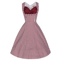 'Ophelia' Fun, Flirty 50's Inspired Vintage Candy Stripe Swing Party Dress  http://www.lindybop.co.uk/new-products