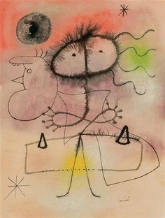 Successió Miro is an entity formed by the heirs to the estate of Joan Miró which administrates the rights of the artist's works. Arthur Dove, Joan Miro Paintings, Steinmetz, Spanish Painters, Art Moderne, Traditional Paintings, Whimsical Art, Art And Architecture, Art Oil