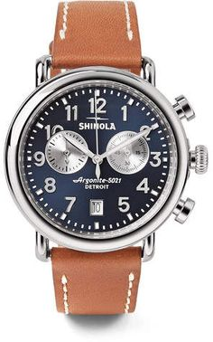 Shinola The Runwell Chronograph 41mm Stainless Steel And Leather Watch  mens watches, mens watches affordable, mens watches under $200, mens watches 2018, mens watches popular, mens' watches, men's watches