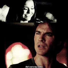 """""""[ 7x02 ] RIP MY HEART OUT. #damonsalvatore #delena #vampirediaries #elenagilbert"""""""