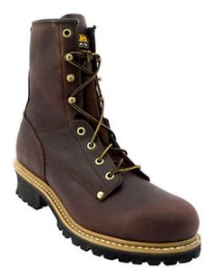 Mens Carolina 8 inch EH Logger Steel Toe Work Boot 1821