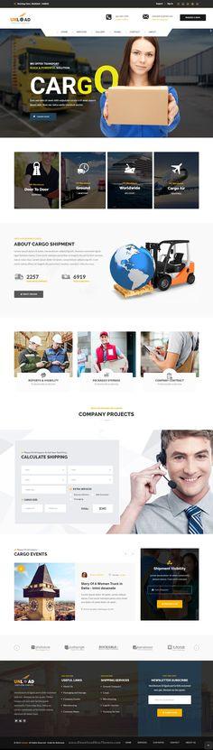 Unload - Cargo, Shipping, Warehouse & Transport HTML5 Responsive Website…