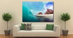 Wave artist canvas on wood frame