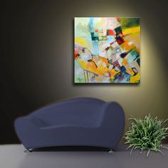 Abstract painting textured painting modern by SallyTraceFineArt