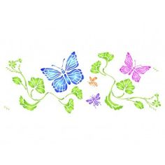 Stencils for Walls' Butterflies and Bees Border Stencil is perfect for a girls room and can be used on the walls, furniture or fabric for curtains and pillows. Stencilling is an effective and versatile way to customize any flat surfaces you may have. Our stencils are cheap and easy to use and also offer impeccable quality.