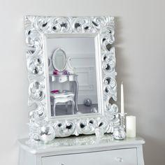 Miroir ovale style baroque à suspendre \