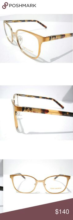 Tory Burch Eyeglasses New and authentic  Tory Burch Eyeglasses  Gold and tortoise frame  Size 50-18-135 Includes original case Tory Burch Accessories Glasses