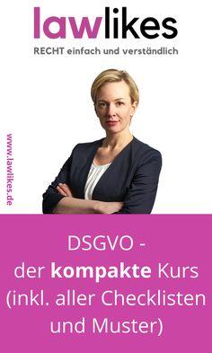 """Du willst (oder musst) die DSGVO auch noch """"Last-Minute"""" umsetzen? Dann haben wir hier deine Lösung! Profitiere von unserem Wissen und den geballten Erfahrungen aus vielen Projekten, Beratungsmandaten und Onlinekursen.  Unser Erfolgsprogramm liefert dir eine   Schritt-für-Schritt-Anleitung für dein  Do it yourself-Projekt zur DSGVO. #lawlikes #rechtstipp #DSGVO #Datenschutz #onlinebusiness"""