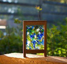 Suncatcher Freestanding Sea Glass Windowsill Sun Catcher