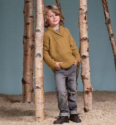 Modèle pull enfant col châle - Modèles tricot enfant - Phildar