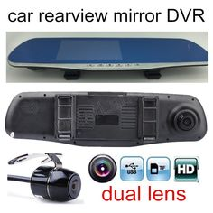 New Arrival 4 3 Inch Car Video Recorder Dvr Review Mirror Dual Lens Lens Fhd 1080p Include Rear Came With Images Car Electronics Car Rear View Mirror Electronics