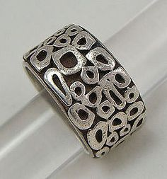 Modernist Jewelry - Sterling Silver Mens Ring
