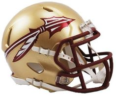 NCAA Florida State Seminoles New 2014 Logo Riddell Mini Speed Football Helmet FSU