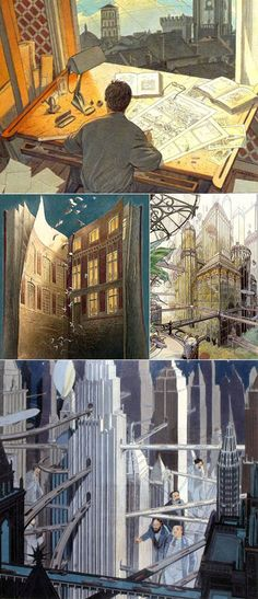 François Schuiten is a Belgian comic artist. In collaboration with Benoît Peeters he made the serie 'De duistere steden'