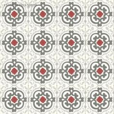 Cement Tile Shop - Encaustic Cement Tile Geneva Red