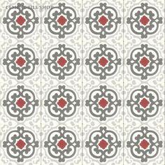 Cement Tile Shop - Encaustic Cement Tile Geneva Red