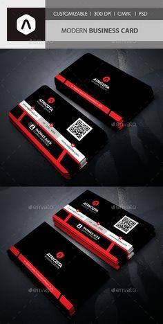 Modern Business Card Template PSD. Download
