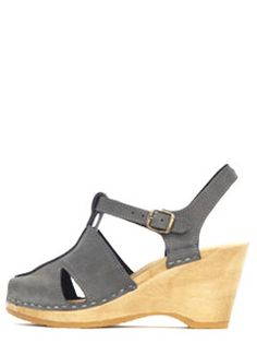 T-Strap Clog on Wedge