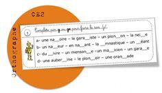 CE2: Rituels orthographe - vocabulaire