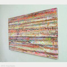 Original Abstract Painting Acrylic Modern abstract by AsiyaBajwa
