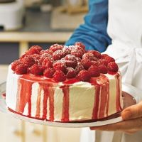 Super leckere und ganz einfache Himbeer-Joghurt-Torte @Brigitte Coleman Coleman