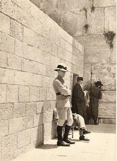Located Near Jiayuguan Jiugang Hotel, The Western Wall, Wailing Wall, or Kotel, Israel History, Jewish History, British Columbia, Old Pictures, Old Photos, Old Jaffa, Naher Osten, Western Wall, Israel Travel