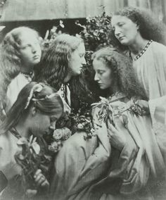 Europeana Photography History 100 Years Photo Archive Old Photos, 'The Rosebud Garden of Girls' by Julia Margaret Cameron (1868)