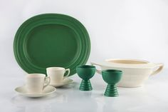 Lot 284 - Keith Murray for Wedgwood Dish, two goblets, a tureen and two cups and saucers printed Under The Hammer, The Saleroom, Wedgwood, Cup And Saucer, Plates, Dishes, Modern Living, Tableware, Cups