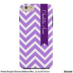 Pretty Purple Chevron Ribbon iPhone 6 Case