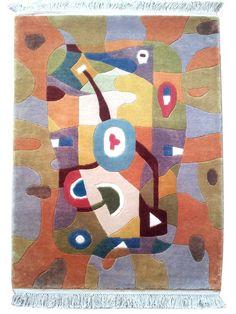 Spring, 100 x 140 cm, handgeknüpft in Tibetqualität aus reiner Wolle. Design Makis Warlamis. Spring gubt es auch in Größe 200 x 270 cm