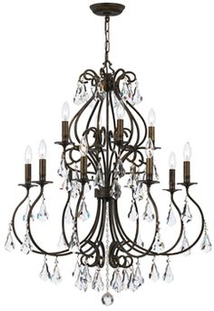 Buy the Crystorama Lighting Group English Bronze Direct. Shop for the Crystorama Lighting Group English Bronze Ashton 12 Light Wide Chandelier with Hand Cut Crystal and save. Bronze Chandelier, Mini Chandelier, Chandelier Lighting, Crystal Chandeliers, Transitional Lighting, Candelabra Bulbs, Lighting Store, Light Fixtures, Ceiling Lights