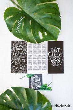 SCHWEIZERISCHE POST WERTVOLLE BOTSCHAFTEN - miriweber.ch - Kreativ - DIY - Food - Familien - Travel Blog aus der Schweiz Diy Blog, Plant Leaves, Poster, Instagram, Plants, Chalkboard Pictures, Creative Cards, Postcards, Families