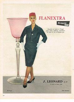 PUBLICITE ADVERTISING 1960 LEONARD FLANESTRA TERGAL in Collections, Objets publicitaires, Publicités papier | eBay